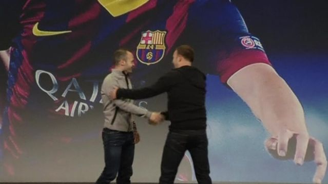 News video: Barca's Iniesta says Manchester City will be difficult