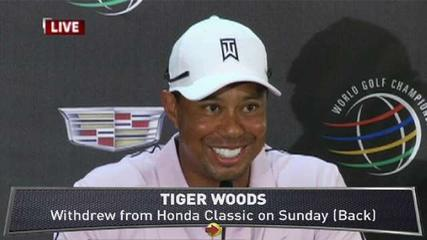 News video: Tiger Woods Discusses Back Injury
