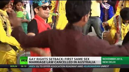 News video: Same-Sex Setback: Australia cancels gay marriage law, India upholds ban